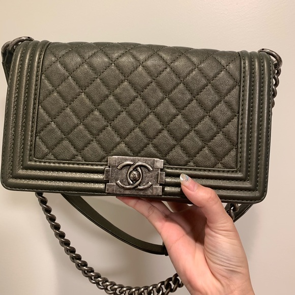 addb937fc1d4 CHANEL Bags | Boy Calfskin Handbag | Poshmark